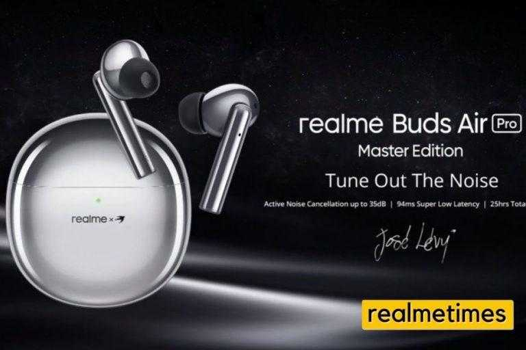 Realme Buds Air Pro Master Edition India launch poster image