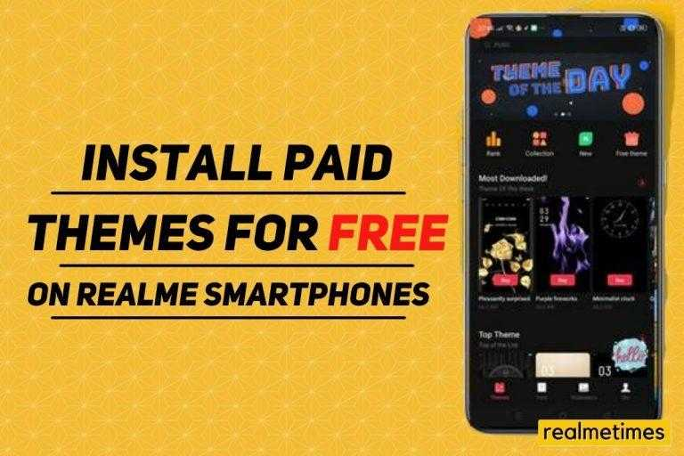 Install Paid Themes for Free Realme Store