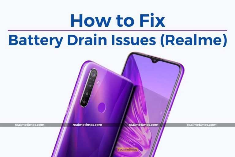 How to Fix Overnight Battery Drain Issues Realme