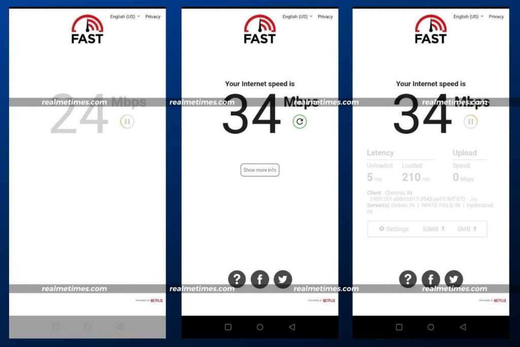 Check Internet Speed Mobile Fast