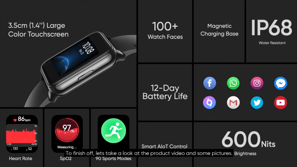 realme watch 2 features, specifications, pricing