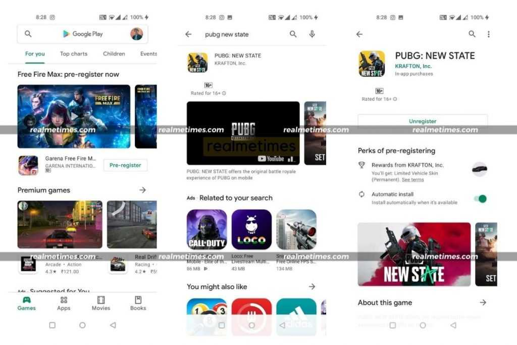 How to Pre Register PUBG New State Realme Android