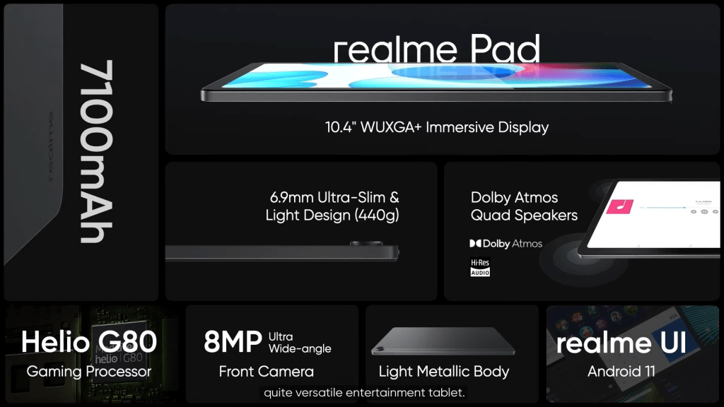 realme pad features