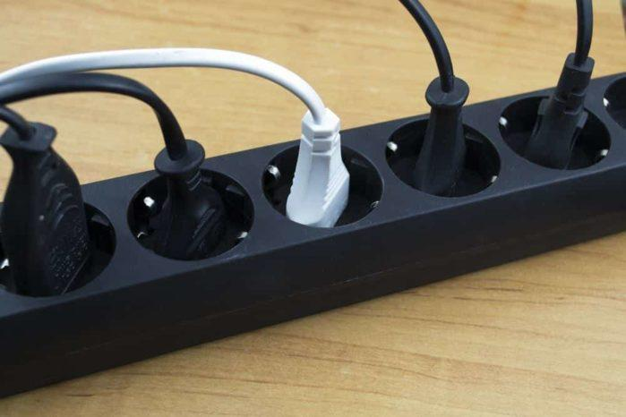 Surge Protector And A Power Strip