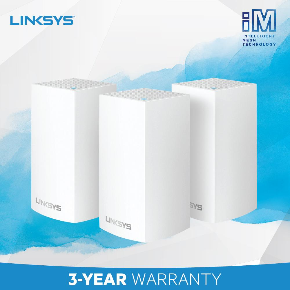 LINKSYS VELOP WHW0103 INTELLIGENT MESH WIFI SYSTEM (3-PACK) DYNAMIC DUAL-BAND AC3900