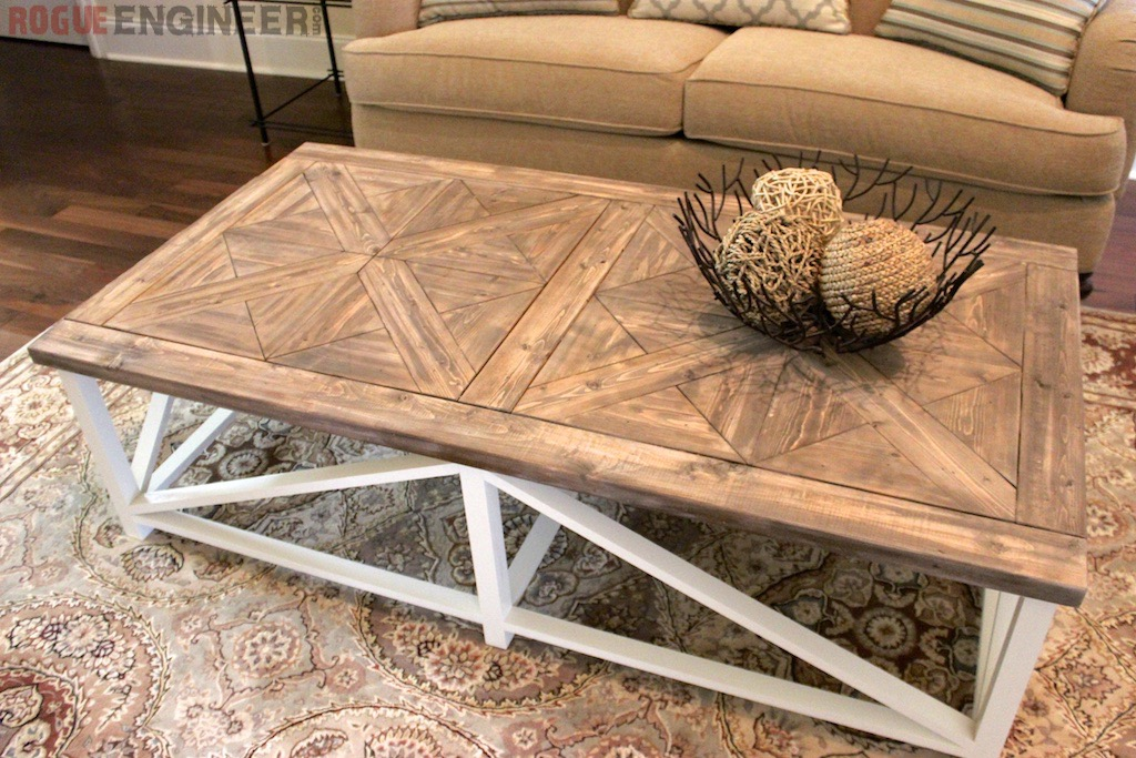 Diy Parquet X Brace Coffee Table Free Plans Rh Inspired