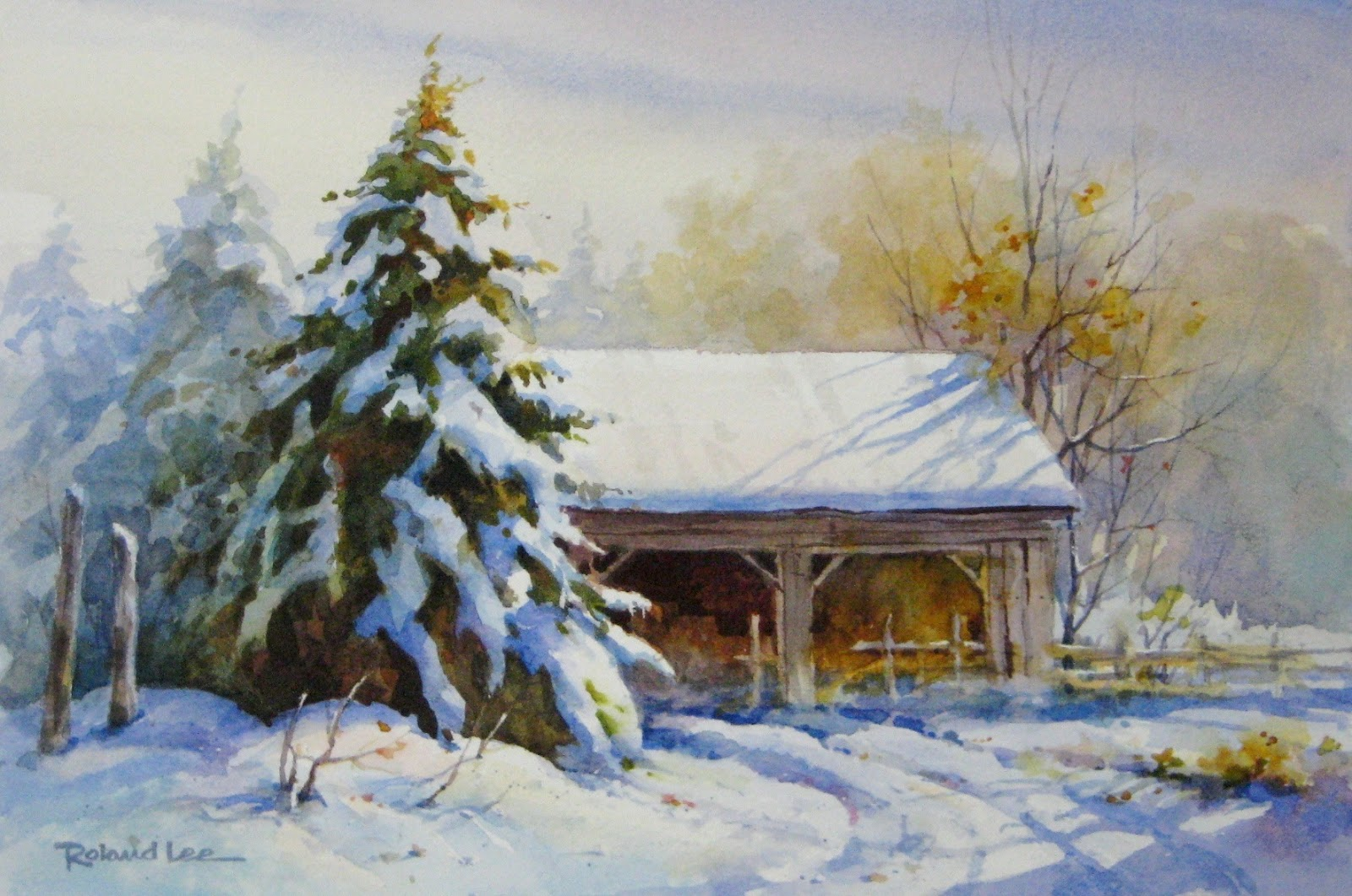 Watercolor Workshop Rustic Winter Scenes St George Ut