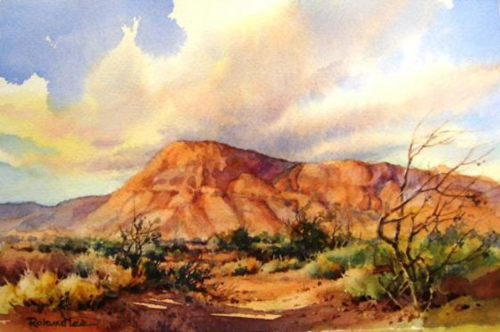 How To Paint Desert Sky In Watercolor Roland Lee