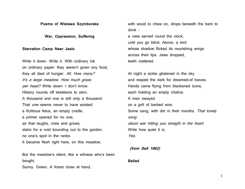 Poems About Suffering 2