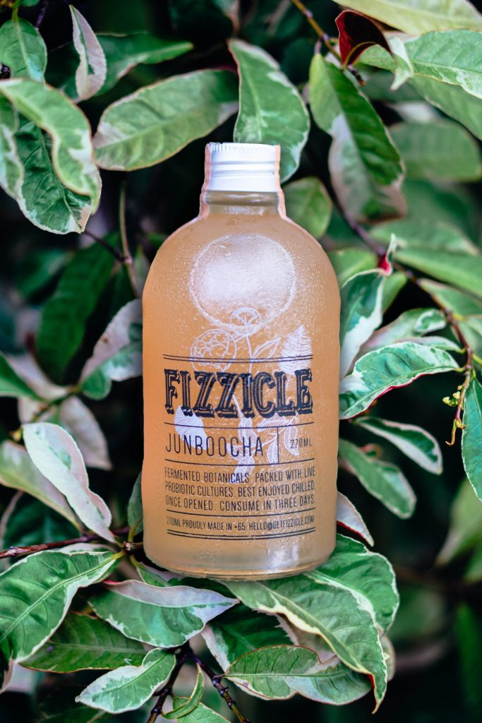 Fizzicle's junboocha, sweetened with raw honey instead of sugar