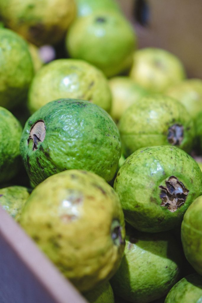 Pink guavas are a good source of fibre and vitamin C
