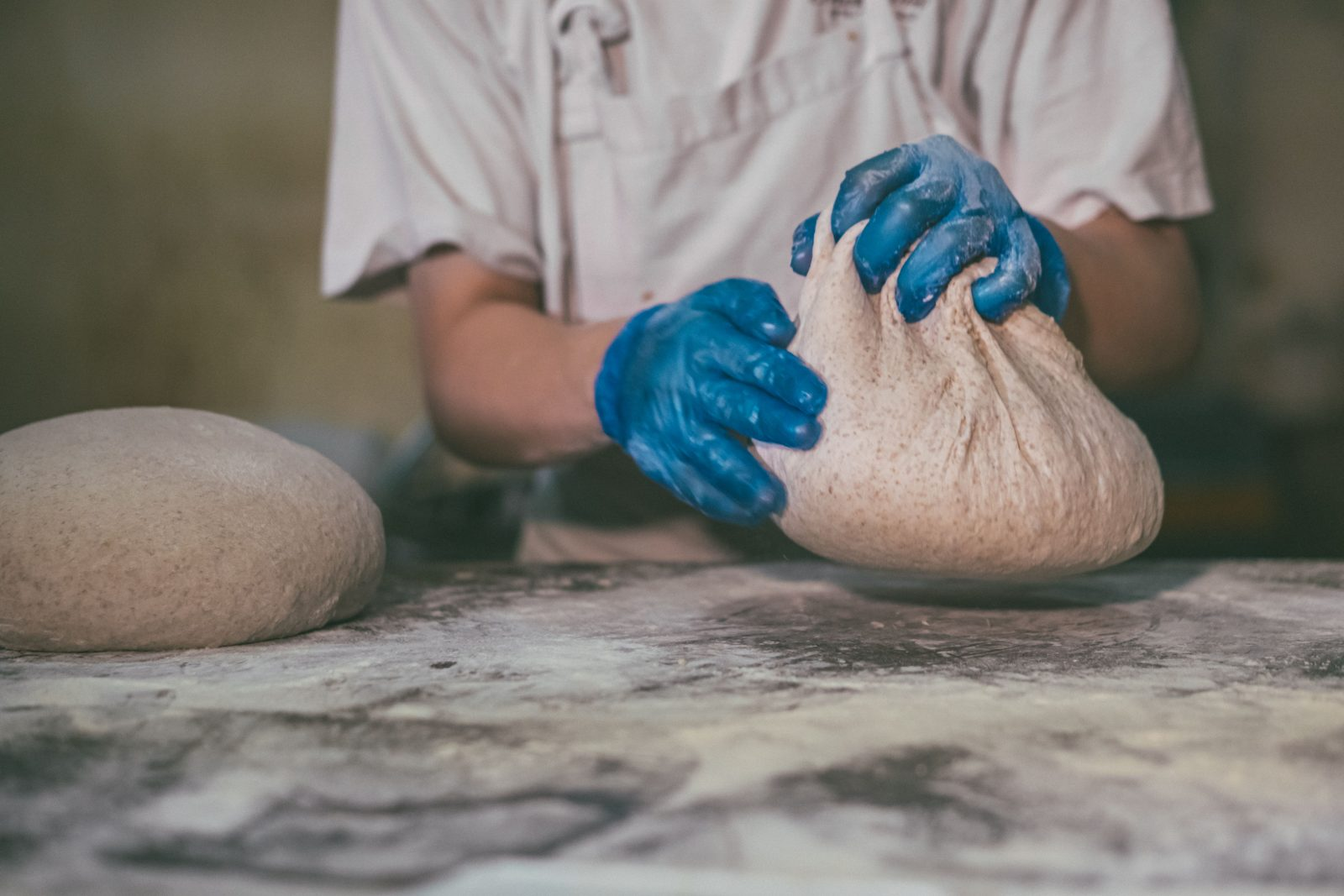 Kneading and shaping dough may appear deceptively simple, but it's no piece of cake: Nick says it takes at least a year for an apprentice baker to become proficient in shaping and dividing dough.