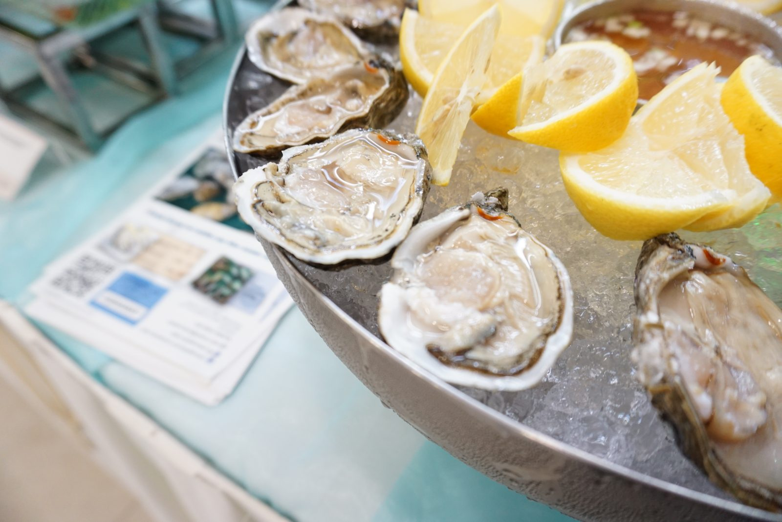 Fresh oysters pair perfectly with a flute of champagne