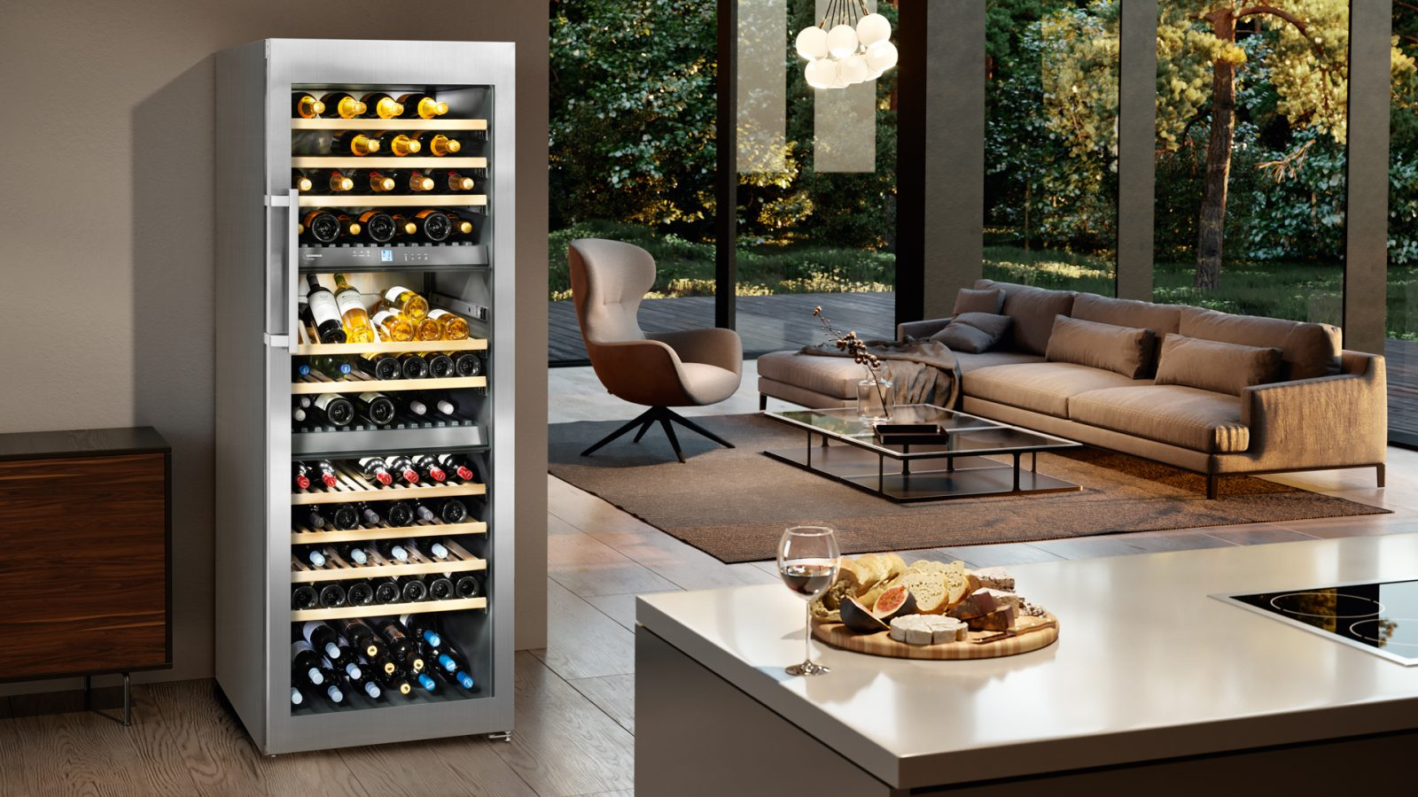 Easily store boozy beverages in optimal condition