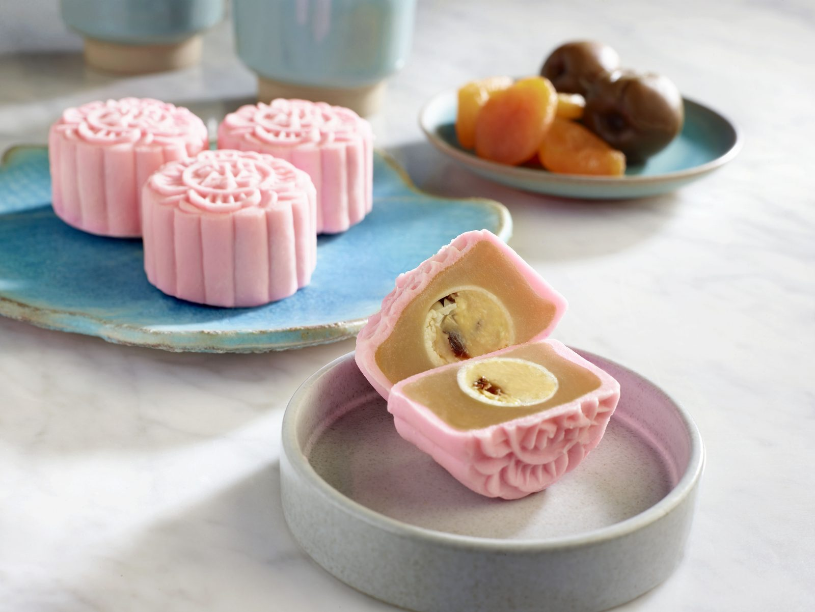 Apricot and Sourplum Snowskin Mooncake by Raffles Hotel