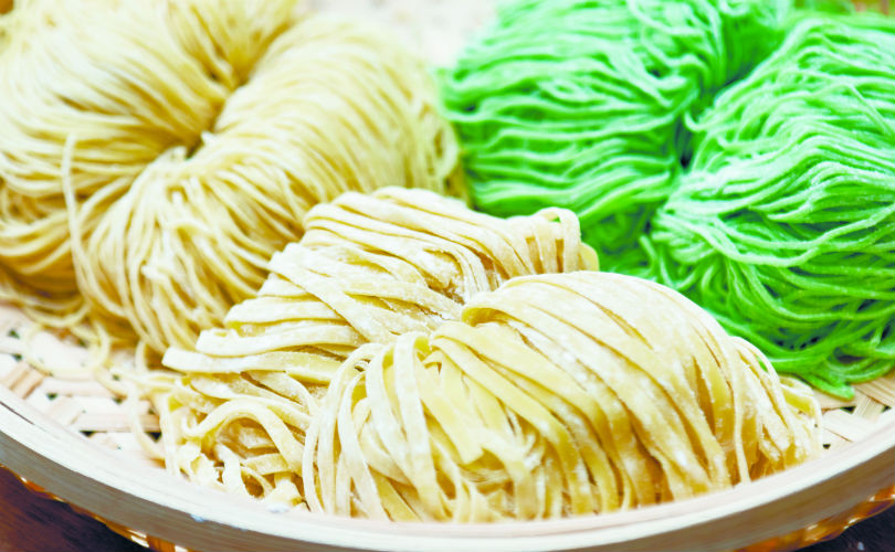 Wanton noodles, mee pok, and Emerald noodles from Handpicked