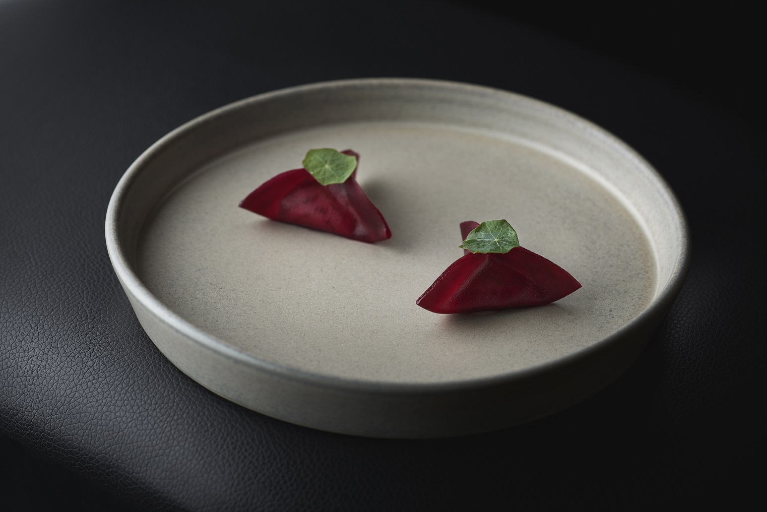 CURE's beetroot dumplings with housemade ricotta