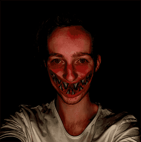 Scary smile.