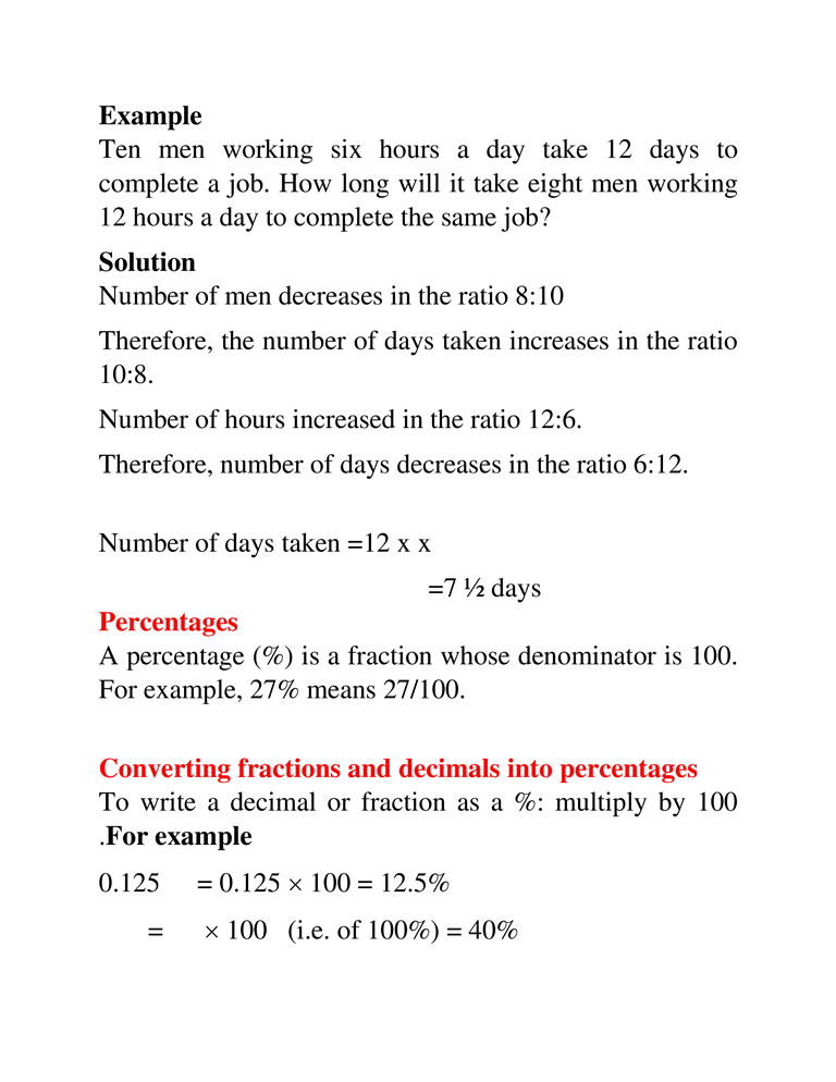RATES, RATIO, PROPORTION AND PERCENTAGE 9