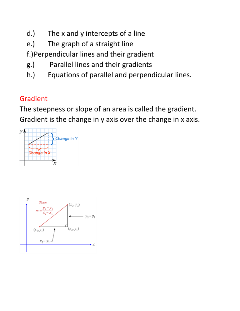 GRADIENT AND EQUATIONS OF STRAIGHT LINES 18