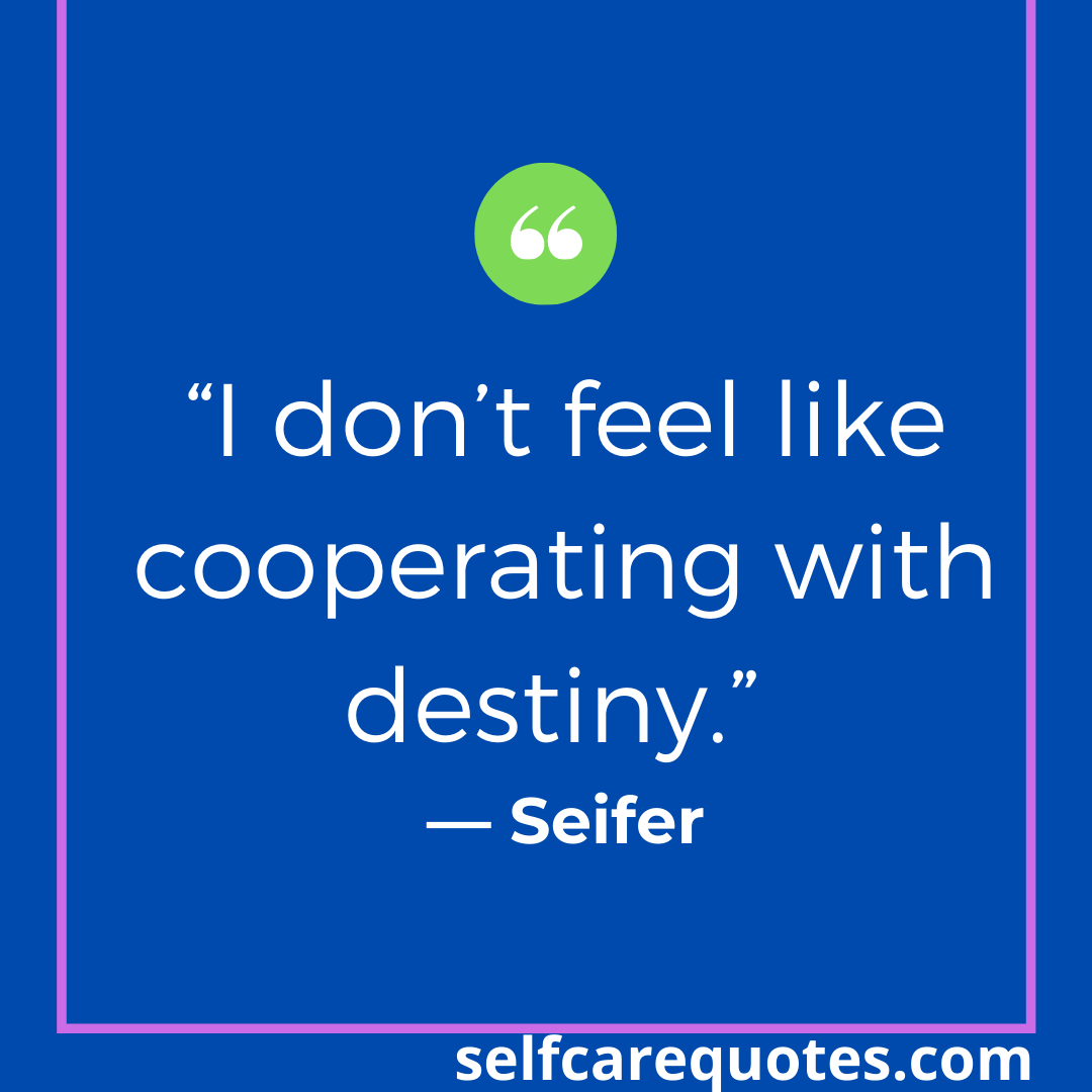 """""""I don't feel like cooperating with destiny."""" — Seifer"""