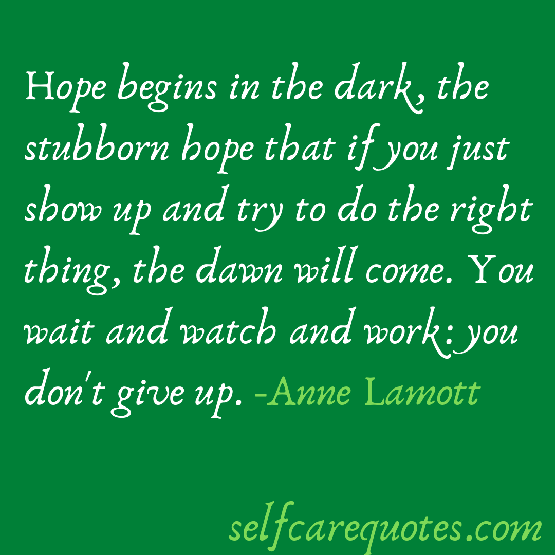 Anne Lamott quotes on hope