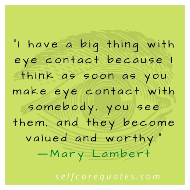 Eye Contact Quotes