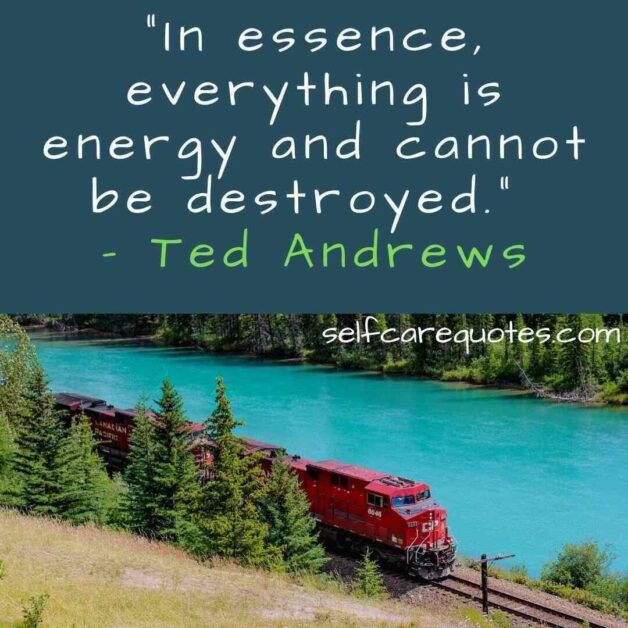 """""""In essence, everything is energy and cannot be destroyed."""" – Ted Andrews"""