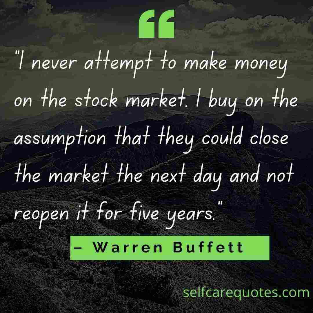 Warren Buffett Quotes about Stocks and Life