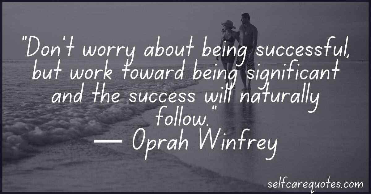 Oprah Winfrey quotes on success