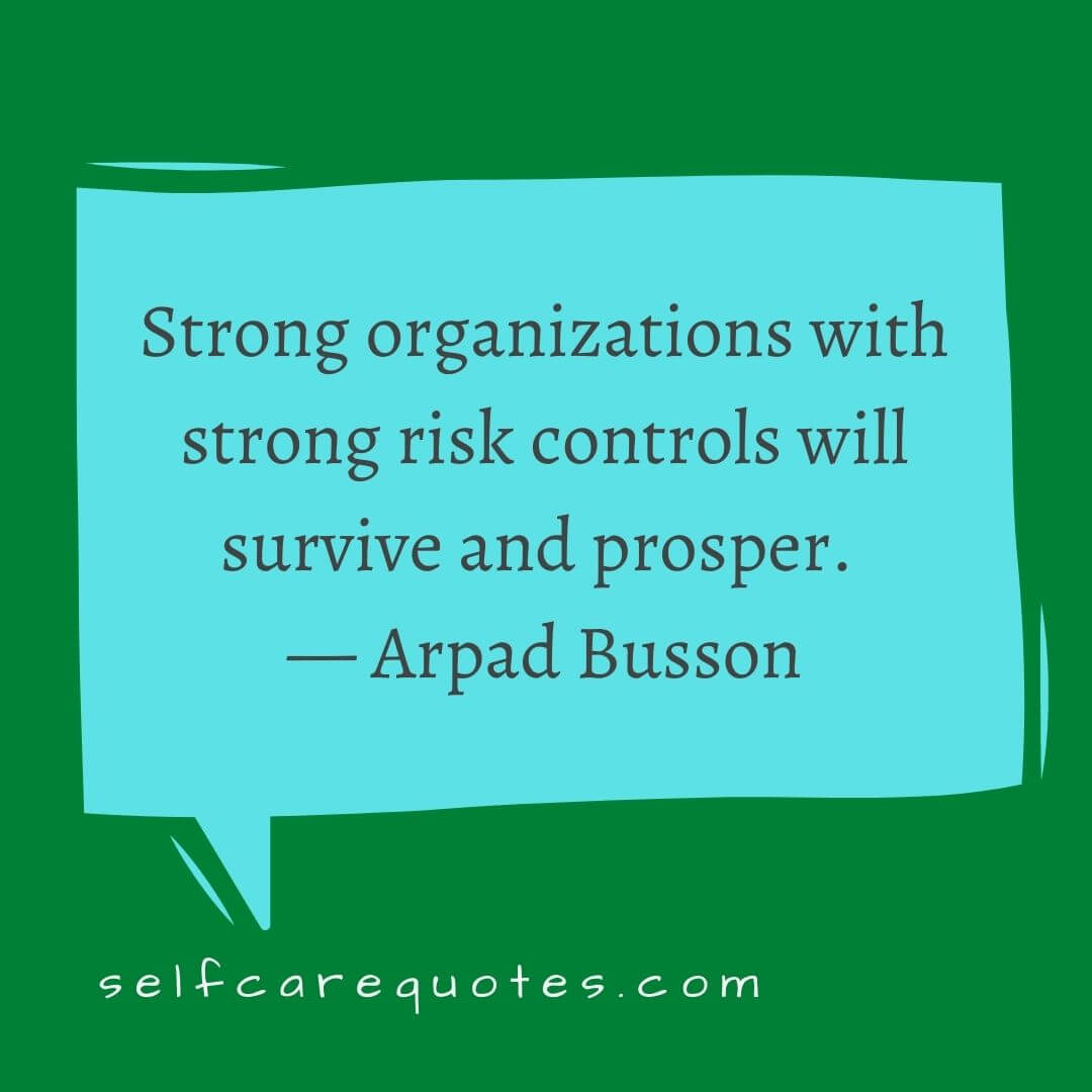 Strong organizations with strong risk controls will survive and prosper. — Arpad Busson