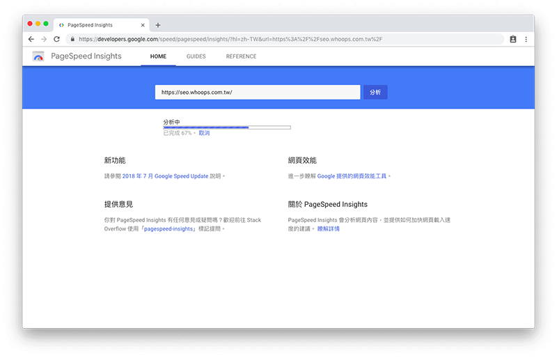 Google PageSpeed Insights 新版介面 - 審查