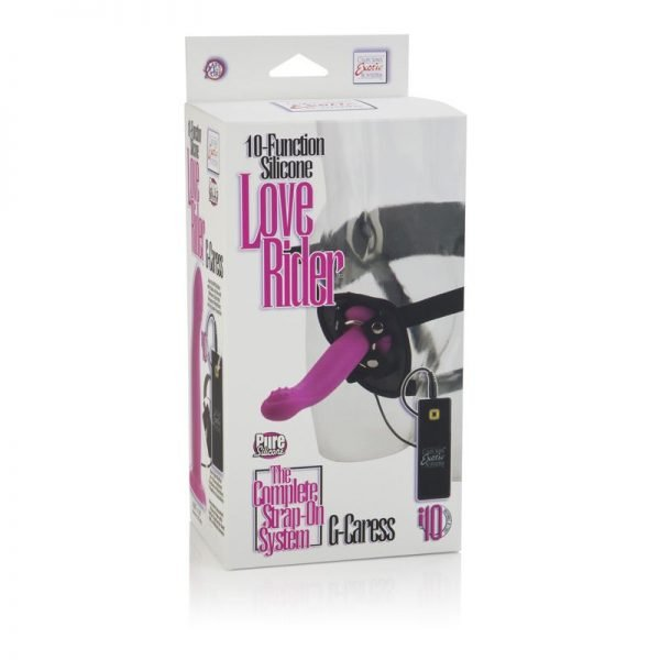 10-Function Silicone Love Rider® G-Caress™ Negro-8109