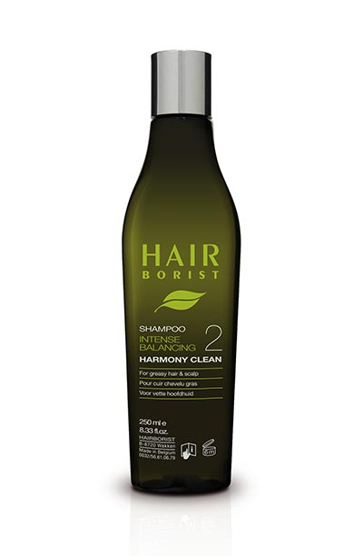 harmony clean 250ml shampoing équilibrant cheveux gras hairborist