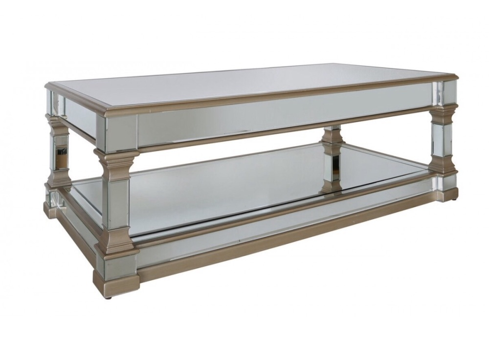 Athena Gold Silver Mirrored Coffee Table