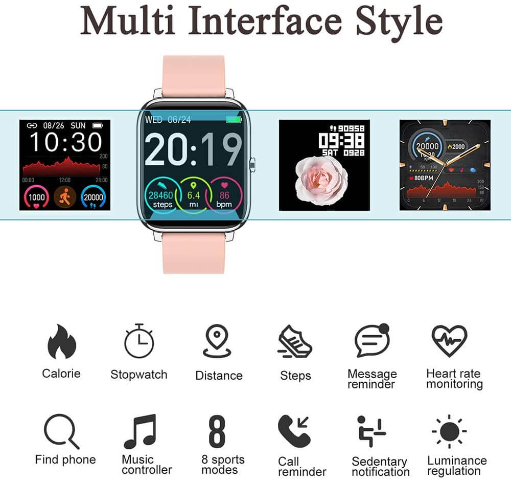Donerton TFT LCD Screen Smartwatch for Android and iOS