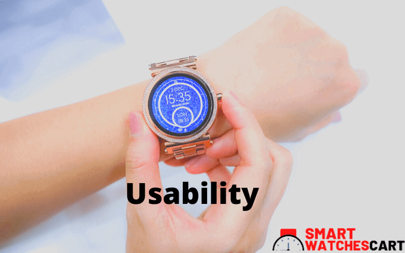 Easy usable smartwatch