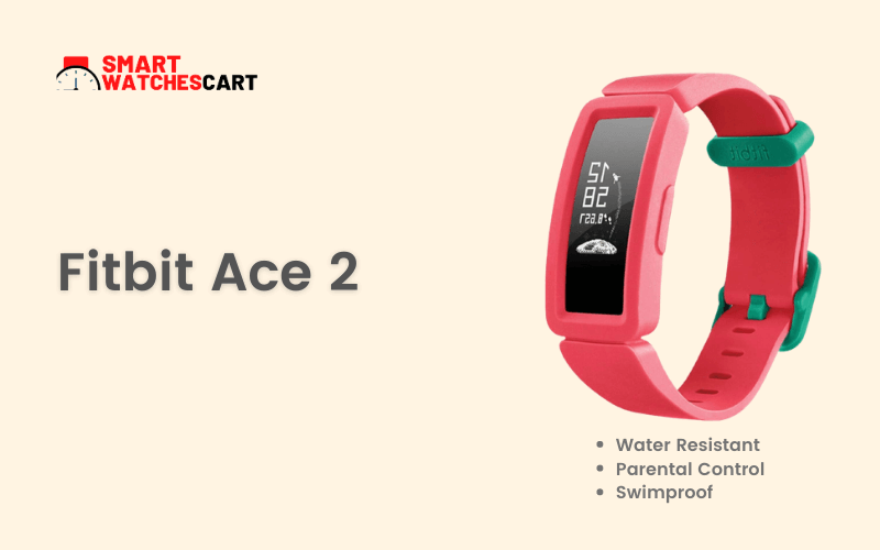 Fitbit Ace 2 smartwatch for 10 year old