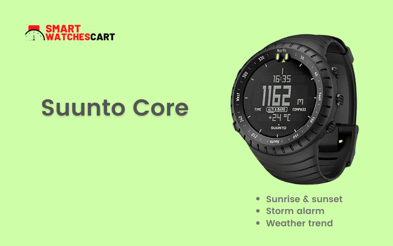 Suunto smartwatch for hunting