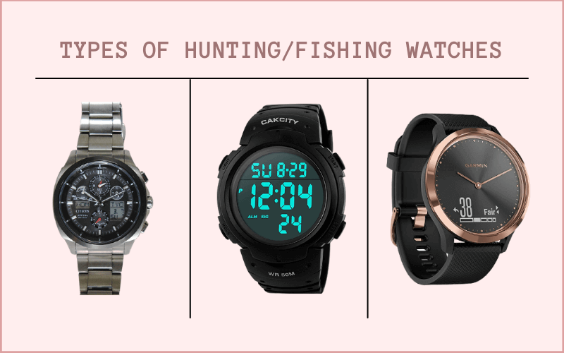 types of fishing watches