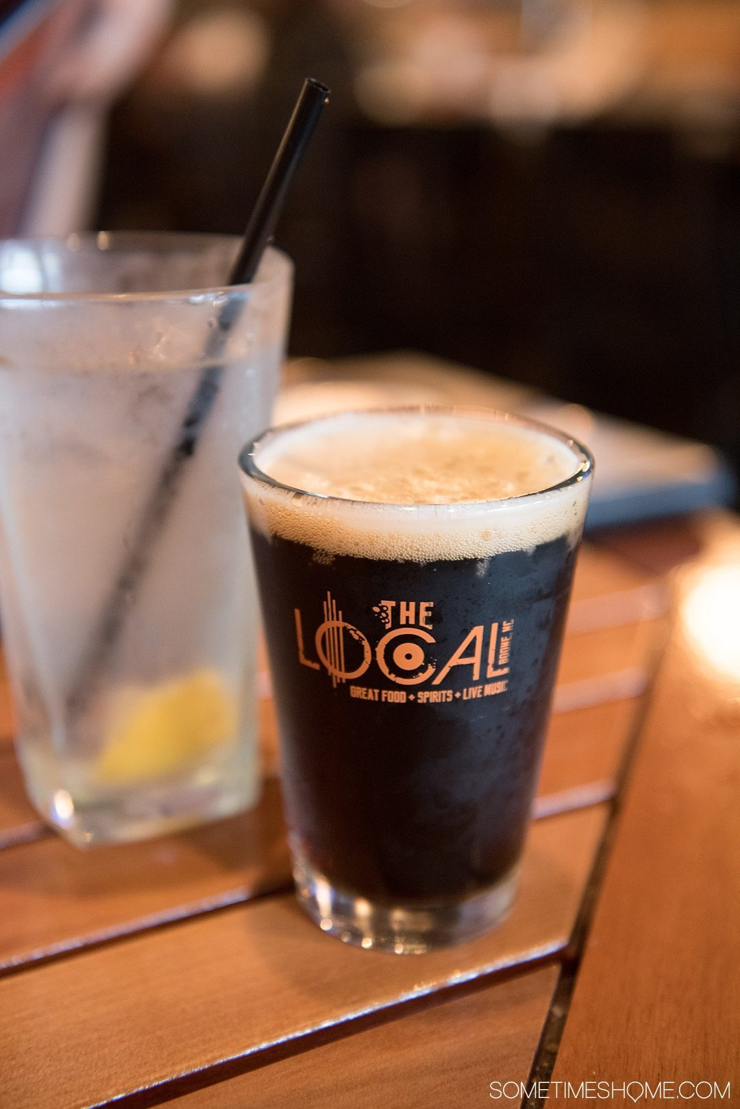 What to do on a rainy day in Boone, NC. Photos and activities on Sometimes Home travel blog. Picture of a stout beer downtown at The Local.