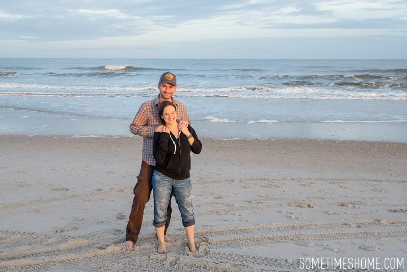 The Proverbial Rip in Travel Photos with Exes and what to do with old photo by Sometimes Home travel website. Image on Carolina Beach.