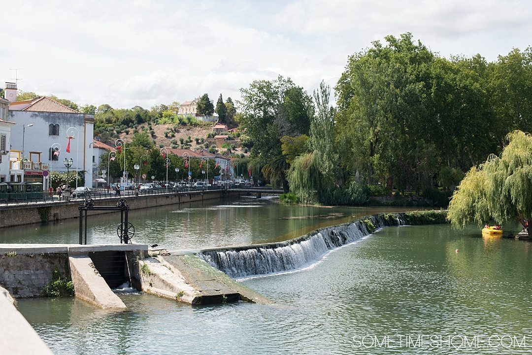 Amazing Day Trip from Lisbon to Tomar Portugal. Photos, tips and advice on Sometimes Home travel blog. Picture of the Nabao River.