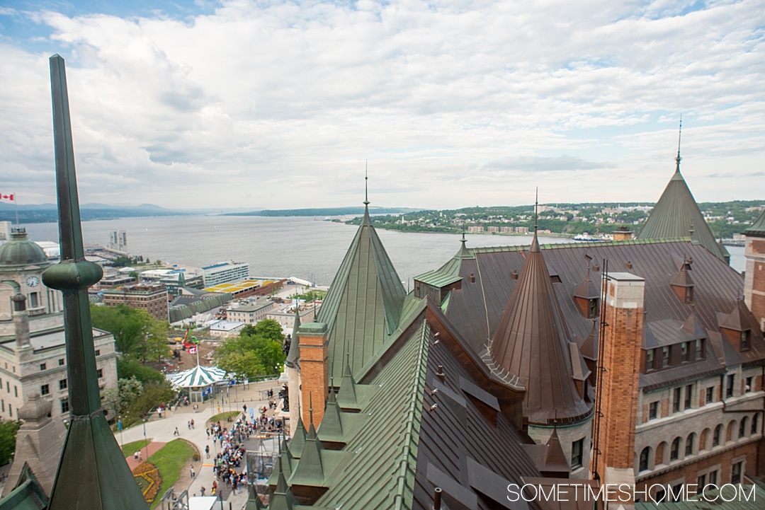 The most famous Old Quebec City hotel, Fairmont Chateau Le Frontenac, is an attractive castle destination for your dream travels. If you're traveling to Canada you certainly want to stop in this European inspired, French founded city and UNESCO World Heritage Site to take great photos, learn about its beauty and history, dine on great food in their restaurants and bars and stay overnight to enjoy the rooms and spa. #QuebecCity #ChateauFrontenac #Canada #SometimesHome #CastleHotel #FairmontHotels