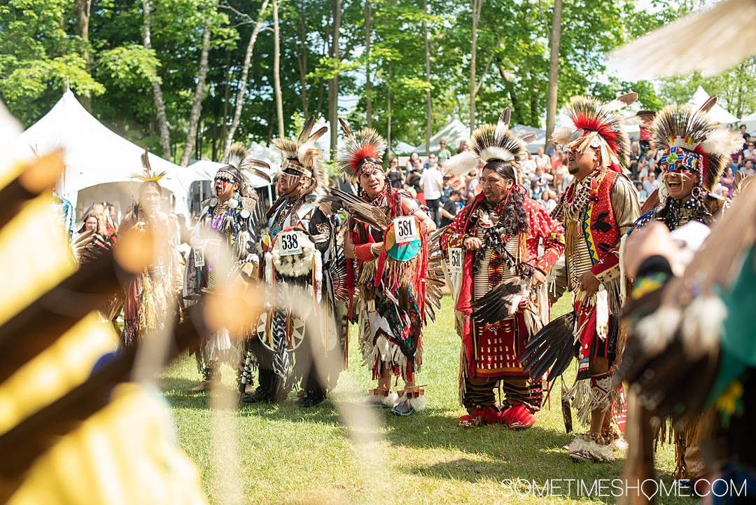 A first time account at an International Pow Wow in Wendake, Quebec Canada, with the First Nations. What to expect, lessons learned, crafts and vendors to see, food to eat and the designs in the dancers regalia that amazed us. #Quebec #FirstNations #PowWow #Wendake #HuronWendat #NativeCultures #NativeAmericans #Regalia #Beadwork