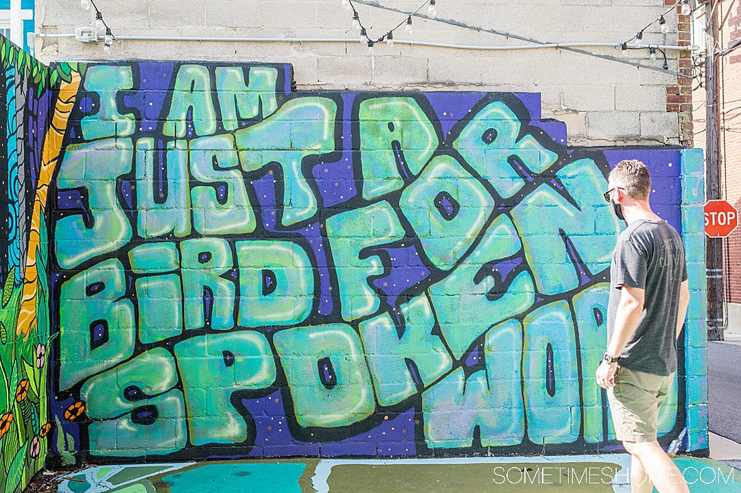 Colorful mural with words in York, Pennsylvania