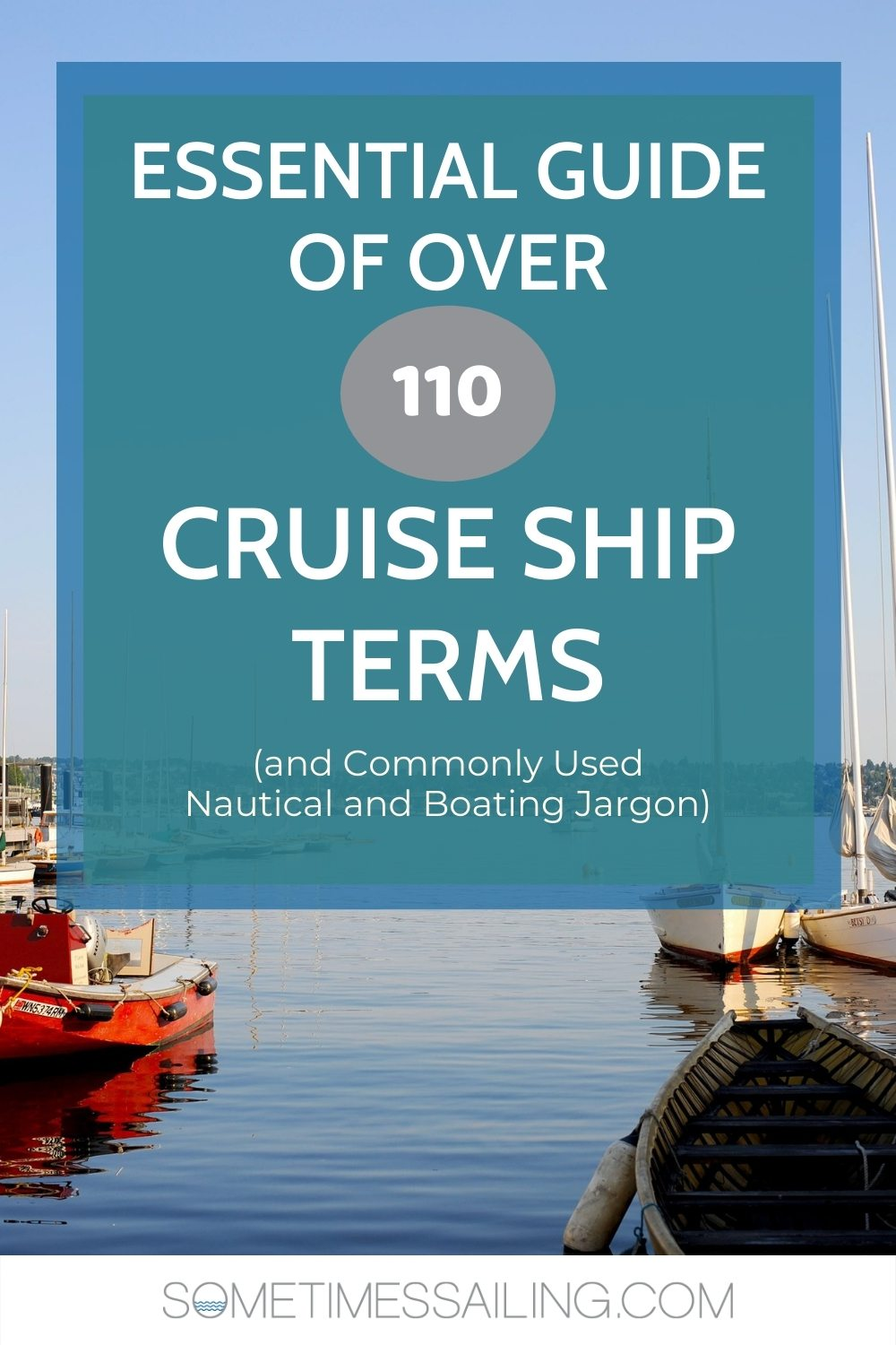 Pinterest graphic that says Essential Guide of over 110 Cruise Ship Terms You Should Know