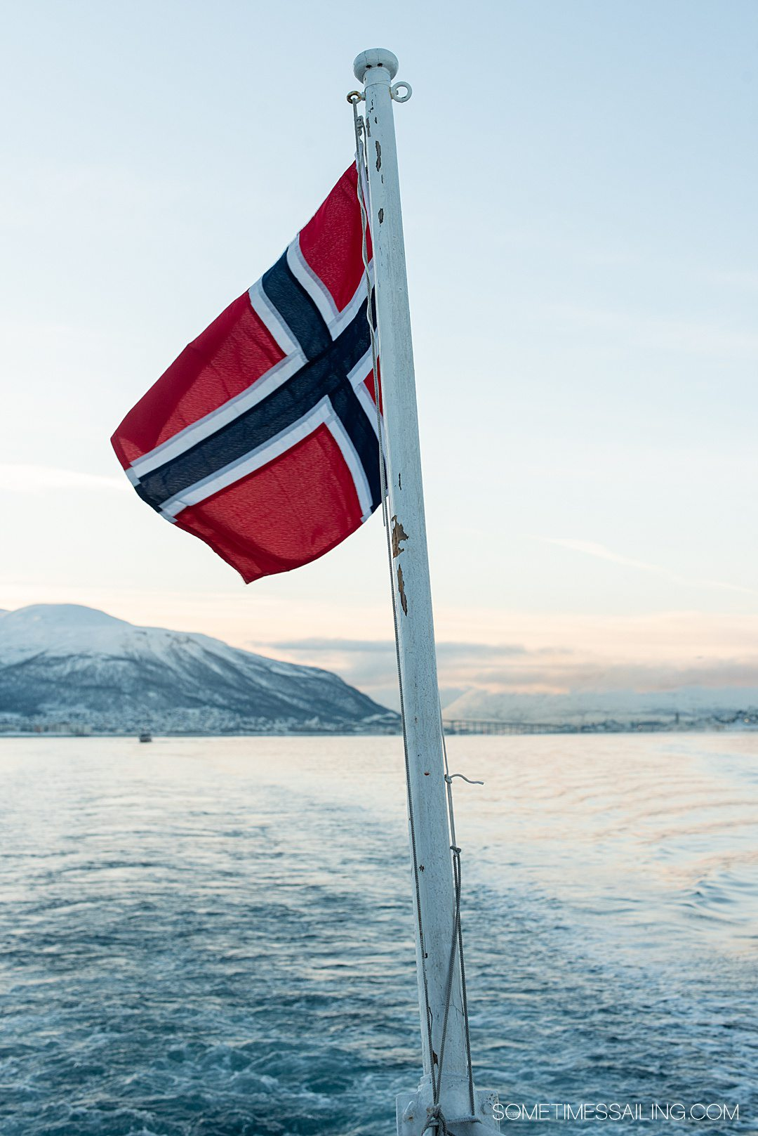 Photo of a nautical flag from Norway for a blog post about cruise ship terms.