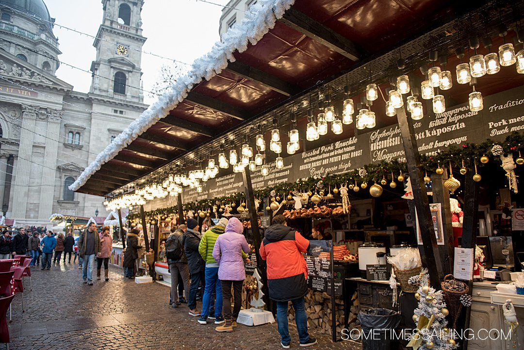 Christmas market in Budapest, Hungary during a Viking River Cruise.