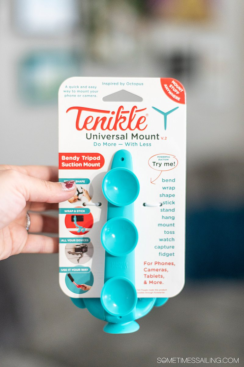 Package with octopus tentacle inspired arms, called Tenikle, that's on top of the package in red letters.